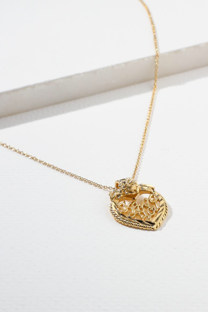 Vanessa Mooney I Love You 24k Gold Plated Necklace | Vanessa Mooney