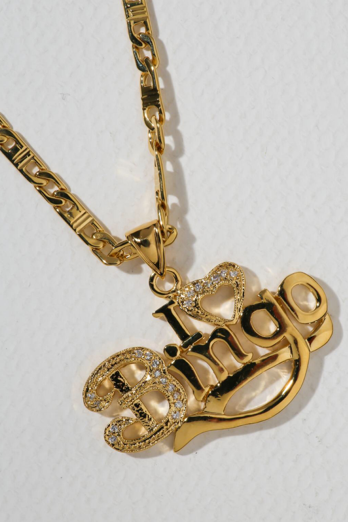 Vanessa Mooney I Love Bingo 24k Gold Plated Necklace