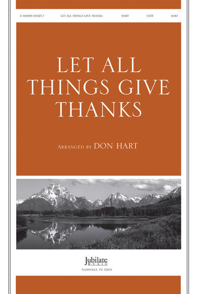 Let All Things Give Thanks