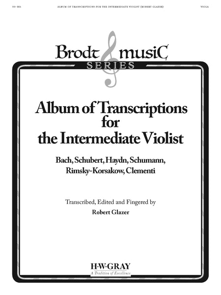 Album Transcriptions For Intermediate Violist