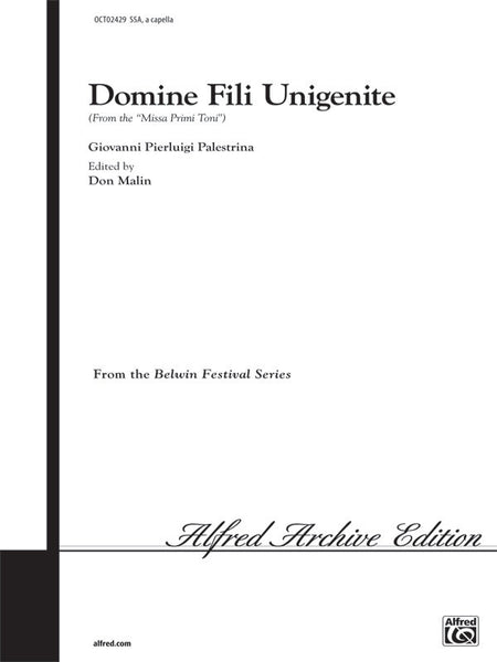 Domine Fili Unigenite (from <I>Missa Primi Toni</I>)
