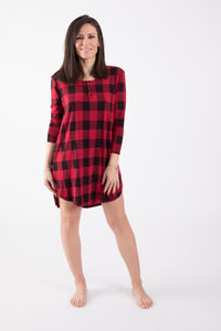 Plaid Holiday Nightie - Lav and Kush