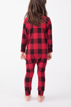 Kids Holiday Plaid Romper - Lav and Kush