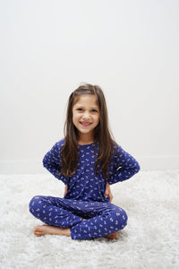 Kids Unisex Printed Bamboo Rompers - New for Holiday! - Lav and Kush