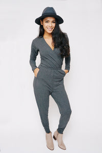 Heartfelt Long Sleeve bamboo Romper - Lav and Kush