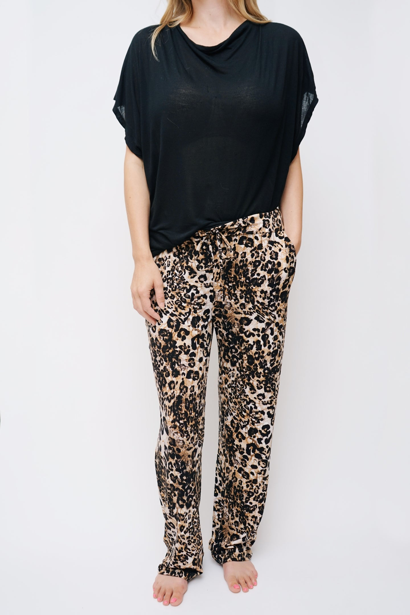 Leopard Lounge Pant - Lav and Kush