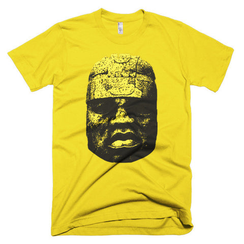 OLMEC KING HEAD (GOLD ON GOLD)