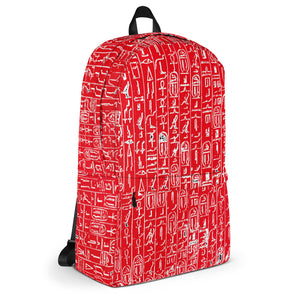 Khamit Pyramid RED Backpack(XX#0006) LIMITED