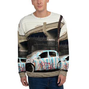 Hoodbot GRITTY PIC #1 CAR SMASH Unisex Sweatshirt