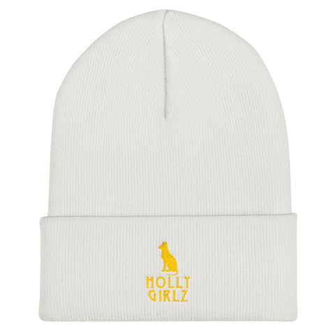 Kamit Cat Cuffed Beanie (Yellow)