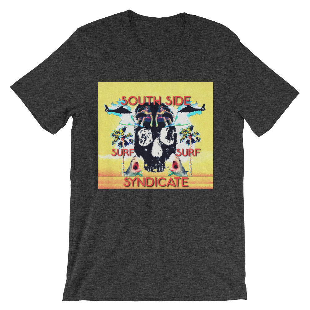 South Side Surf Skull!! Unisex short sleeve t-shirt