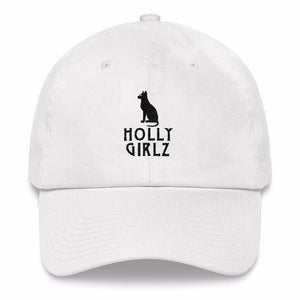Kamit Cat Official Dad Hat (White)