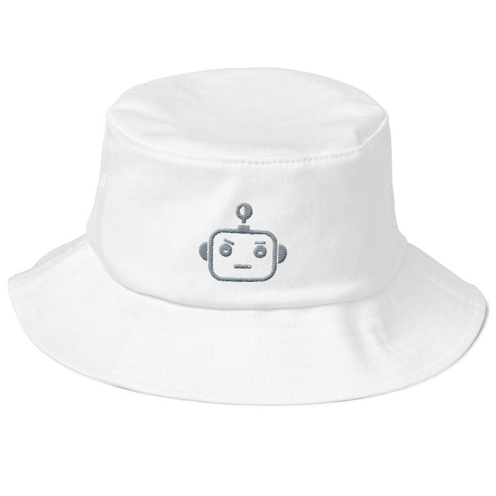 "HOODBOT Grey ""Old School"" Bucket Hat"
