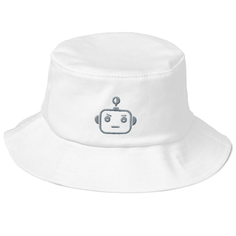 "HOODBOT (LOGO) GREY ""Old School"" Bucket Hat"