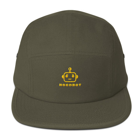 HOODBOT CHILL YELLOW WORDS Five Panel Cap