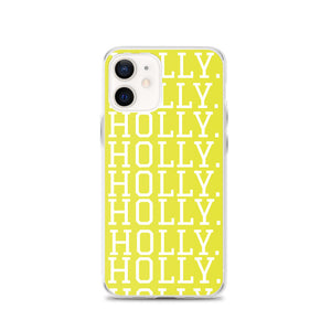 HOLLY. (Yellow) iPhone Case