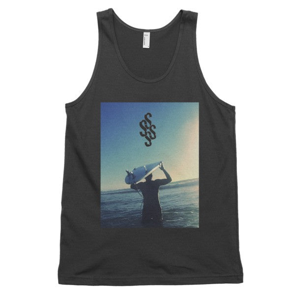 SOUTH SIDE SURF SYNDICATE WAVE WALK BLACK Classic Tank (unisex)