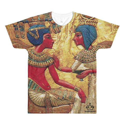 KHAMIT KING AND QUEEN All-Over Printed T-Shirt