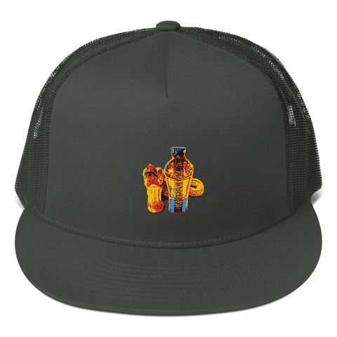 Egyptian Snake and Vulture Mesh Back Snapback