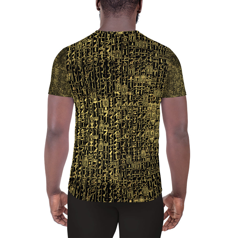 Pyramid Text All-Over Print Men's Athletic T-shirt
