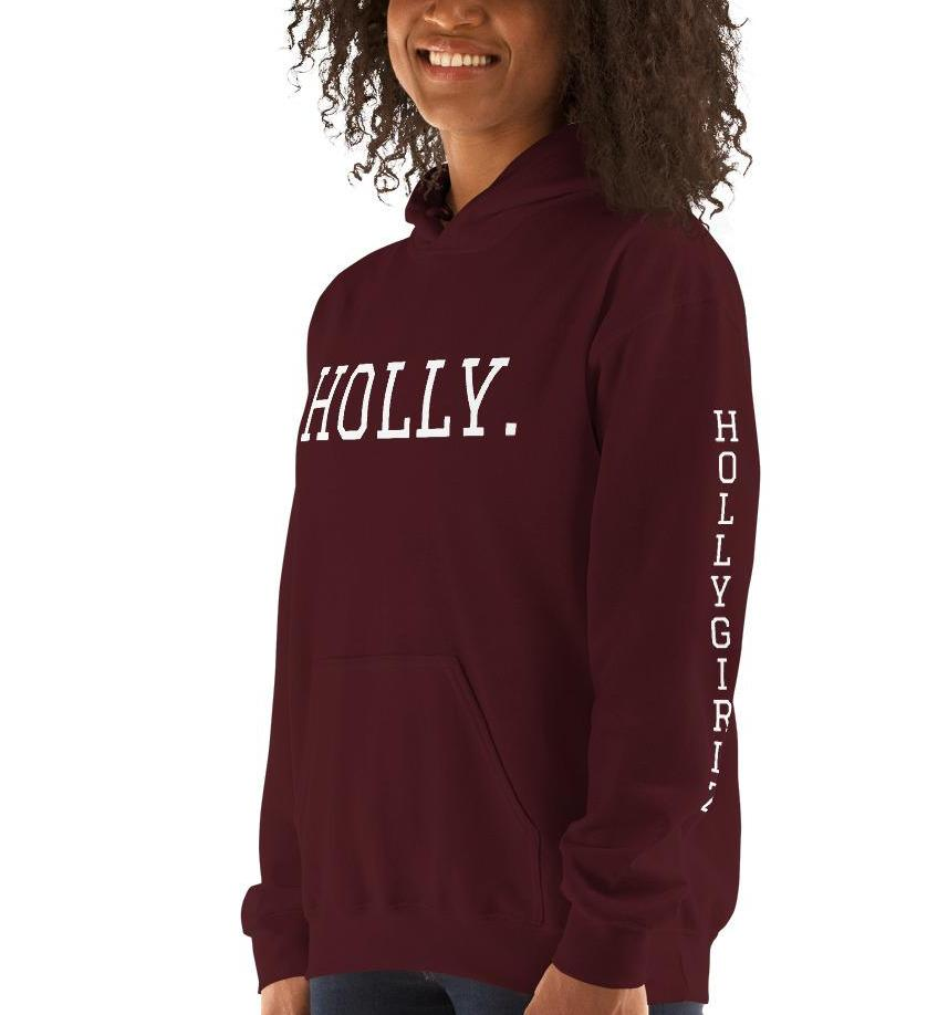 HOLLY. Color Hooded Sweatshirt  (Unisex)