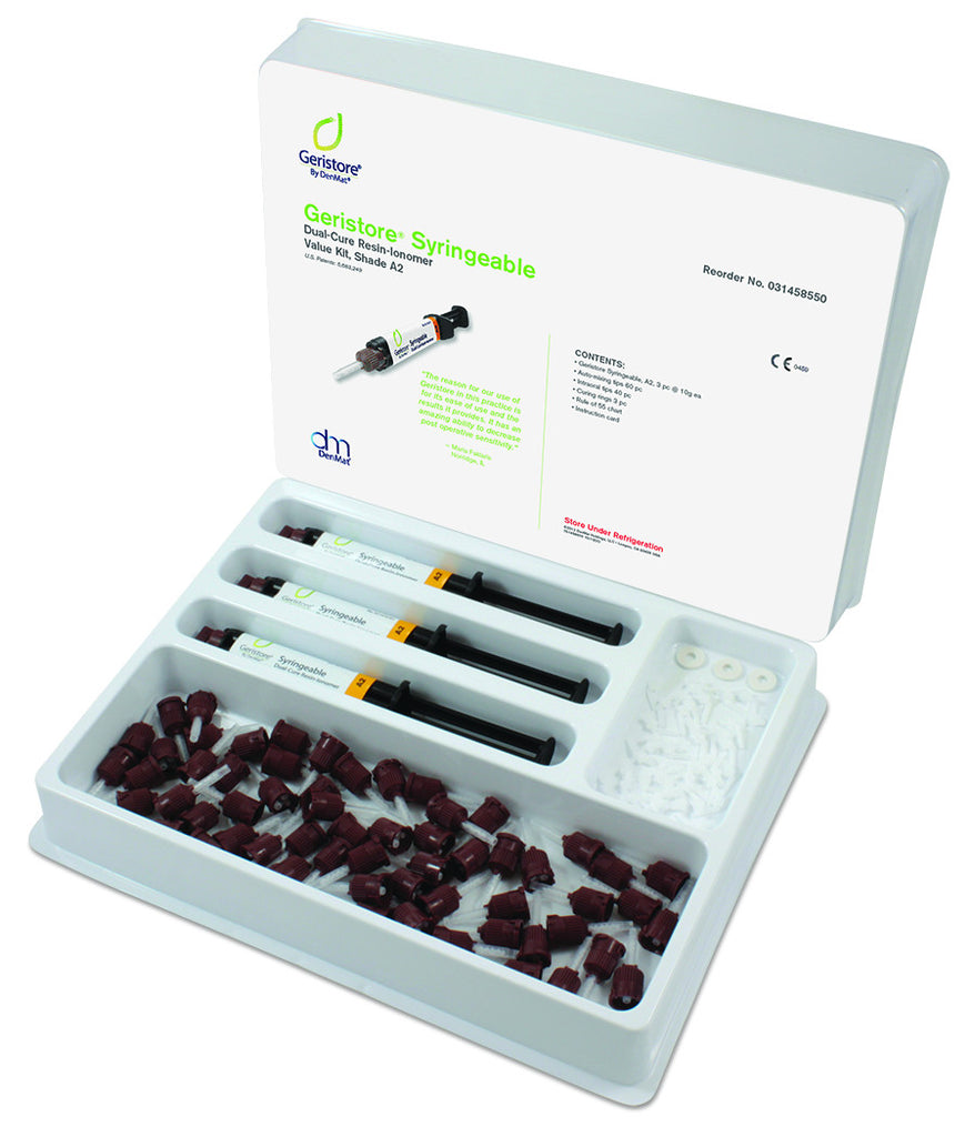 Geristore Syringeable Value Custom Kit, (Choose 3 Shades) - Go! Dental (Aust) Pty Ltd