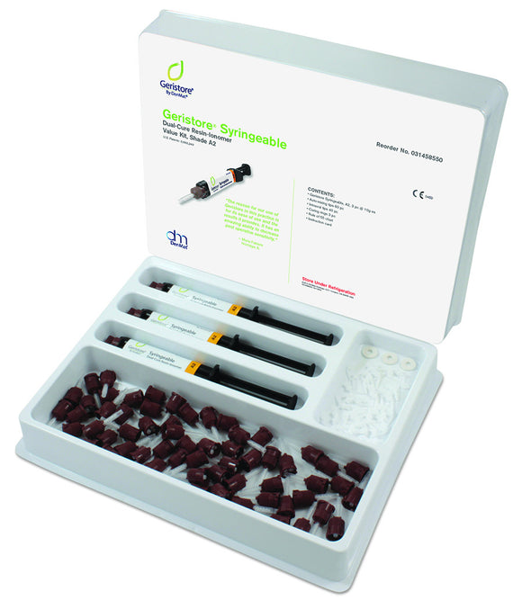 Geristore Syringeable Value Kit, Shade A2 - Go! Dental (Aust) Pty Ltd