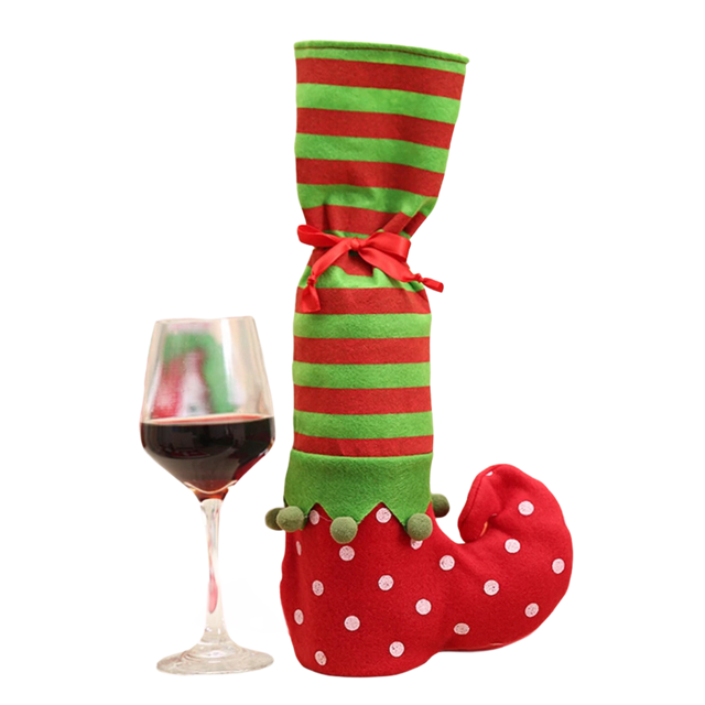 BLACK FRIDAY Elf wine bottle holder