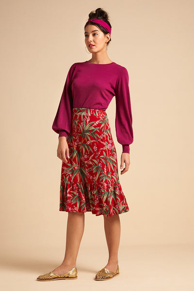 Esme Skirt Tahiti vonKing Louie in Chili Red