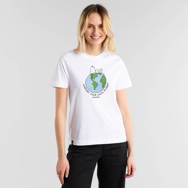 T-SHirt Mysen Snoopy Earth Organic Fairtrade von Dedicated