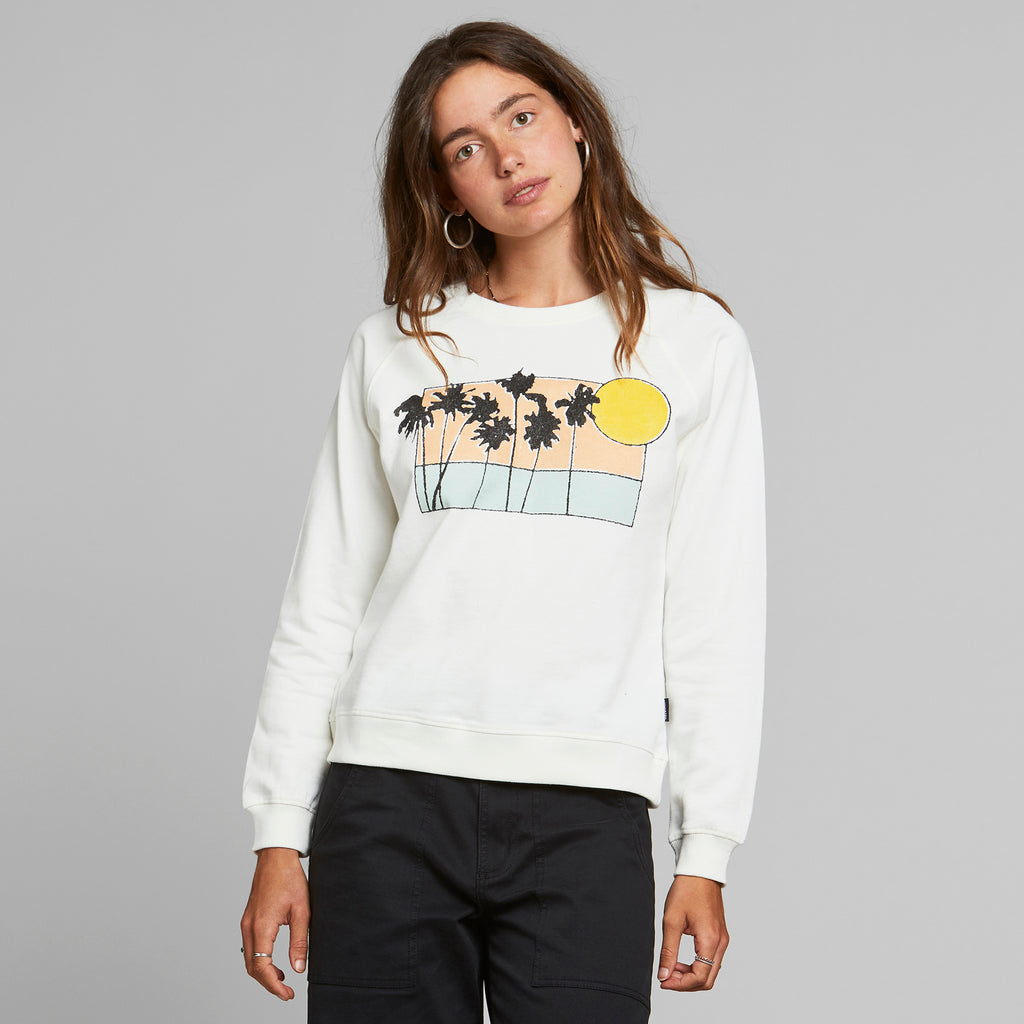 Sweatshirt Ystad Sunset Palms Organic Fairtrade von Dedicated