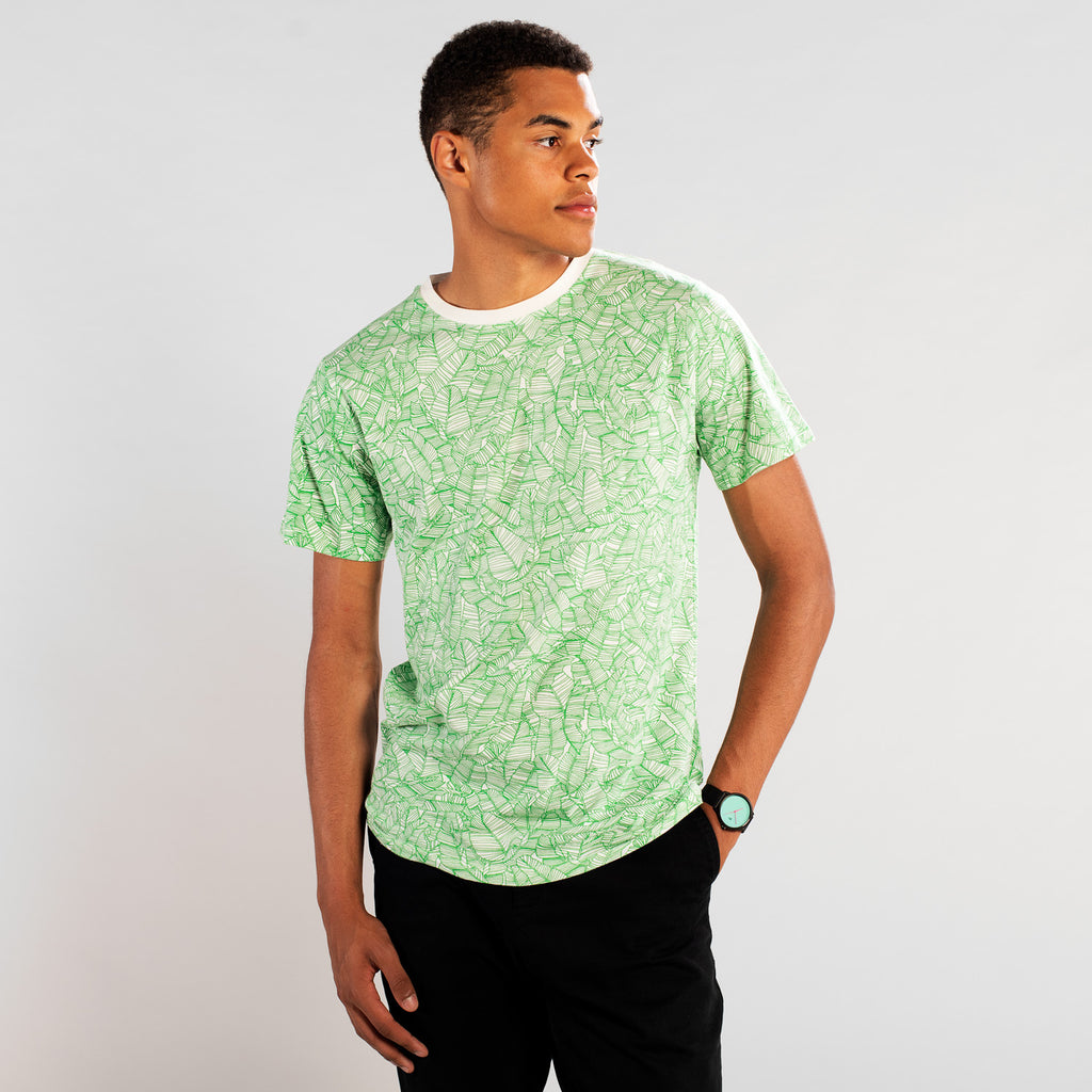 T-Shirt Stockholm Palm Leaves Pattern von Dedicated