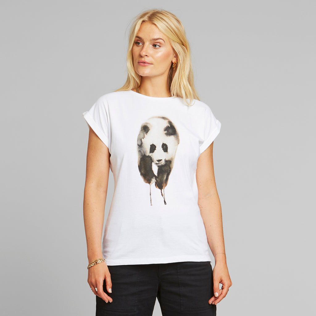 T-Shirt Visby Painted Panda Organic Fairtrade von Dedicated