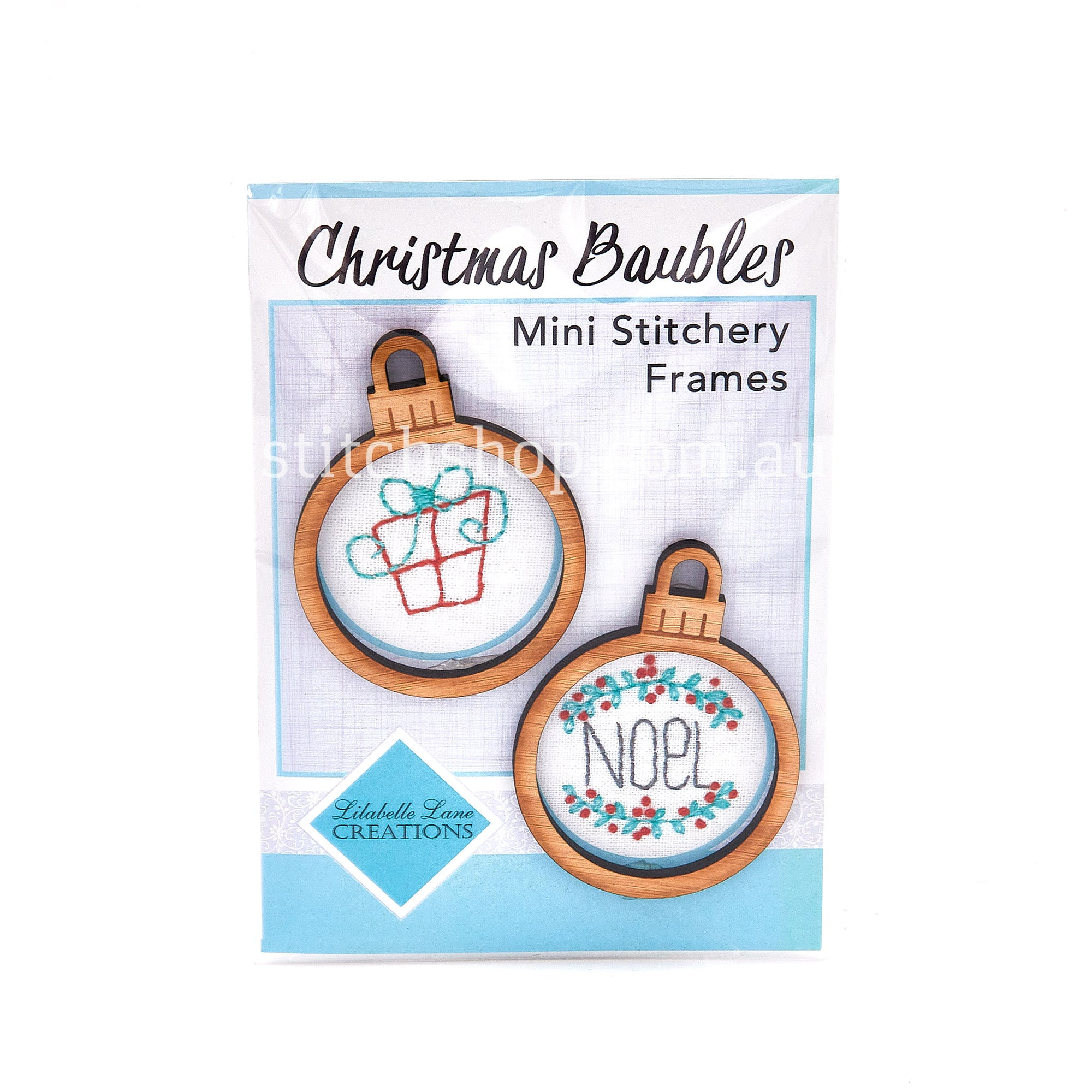 Christmas Baubles Mini Stitchery Frames - Default Title (0728238873165)