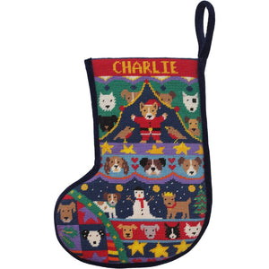 Puppies Christmas Stocking