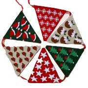 Christmas Bunting Tapestry Kit