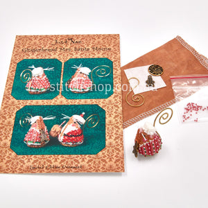 Gingerbread Mrs Santa Mouse with Linen