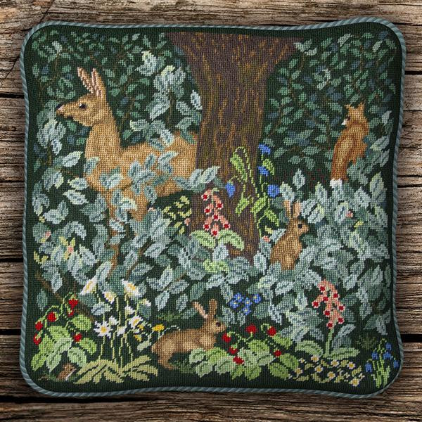 Woodland Cushion with Dark Background