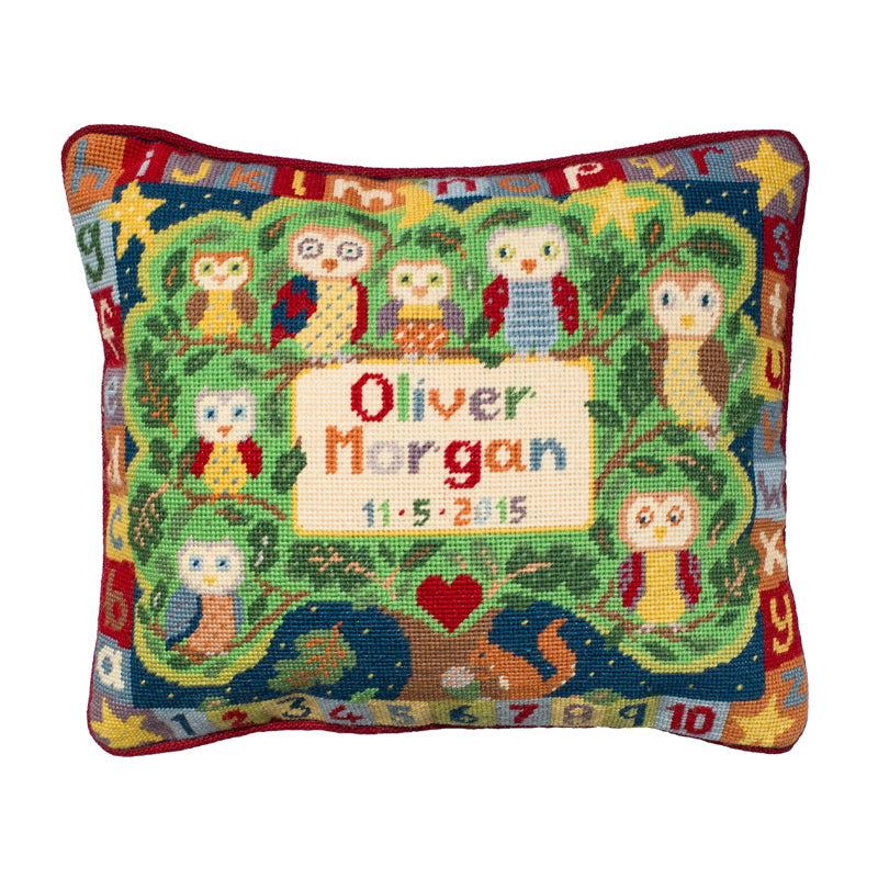Alphabet Owls Cushion