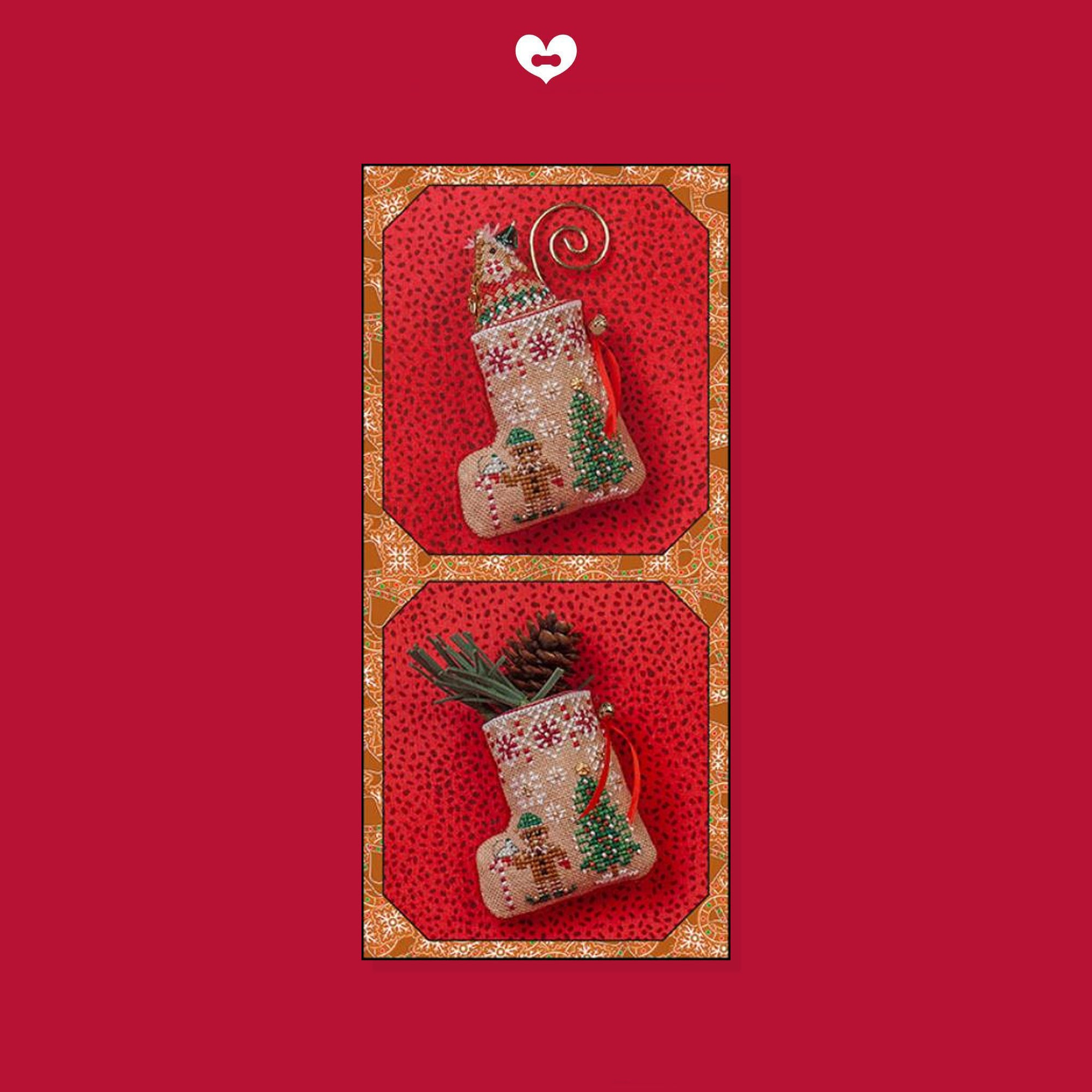 Gingerbread Mouse Elf Stocking with Linen