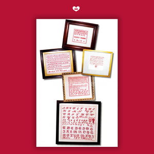 A Collection of Antique Red Samplers - Default Title (JBW398)