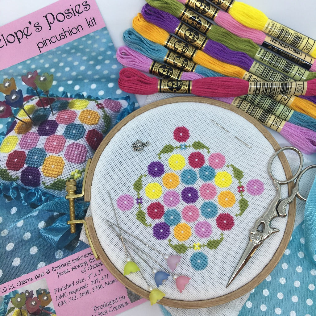 Penelope's Posies Pincushion Kit with Threads