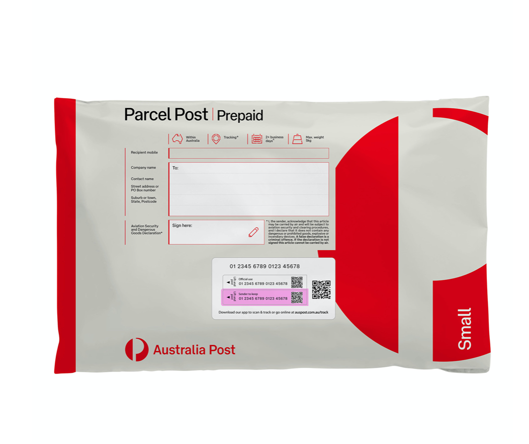 Parcel Post Red Satchel