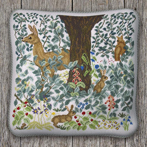 Woodland Cushion with Light Background