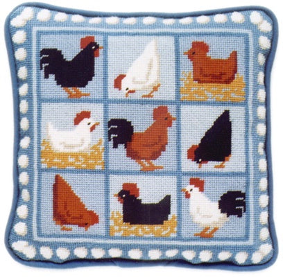 Blue Hens by One Off Needlework