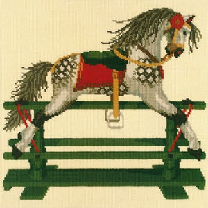 Rocking Horse (dark red background)