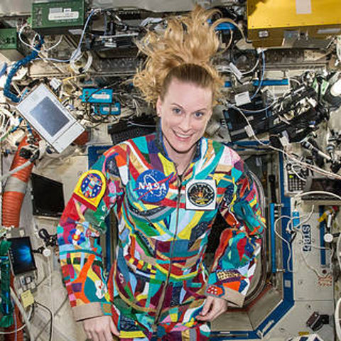 NASA astronaut wears suit dubbed