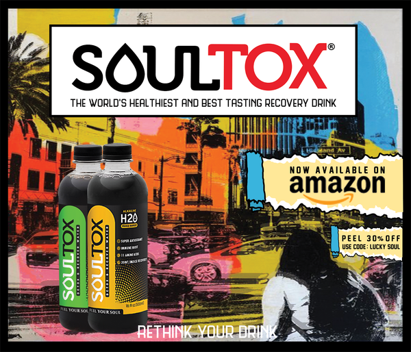 SOULTOX 10ph Alkaline Natural Mineral Black Water - Lucky Soul