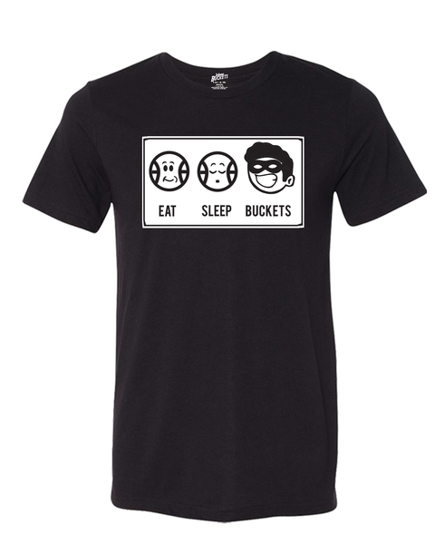 EAT SLEEP BUCKETS Basketball Tee - Lucky Soul