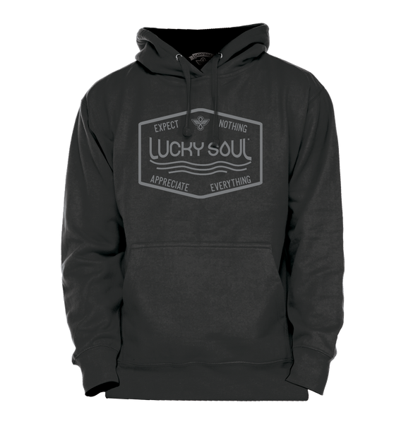 Expect Nothing, Appreciate Everything Inspirational Hoodie - Lucky Soul